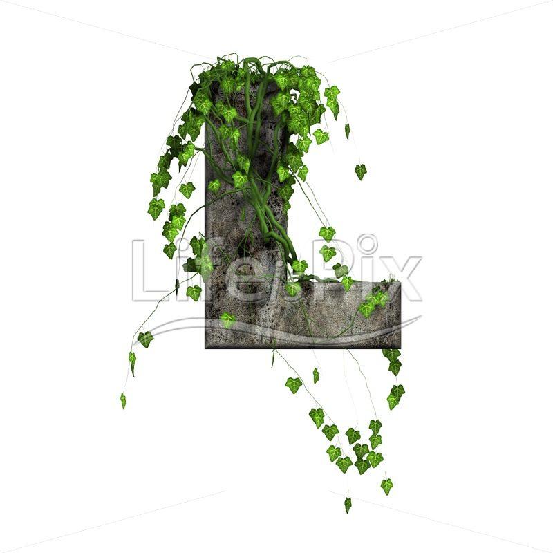 3d stone capital letter