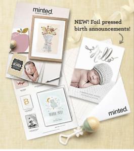FREE Birth Announcement Sample Kit & LookBook