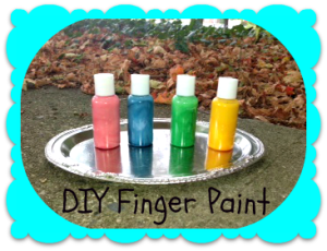 DIY Finger Paints