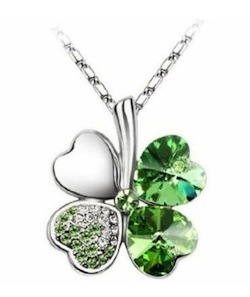 WIN a Swarovski Elements Crystal Four Leaf Clover Pendant Necklace