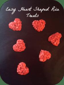 Easy Heart Shaped Rice Treats Recipe