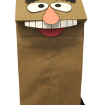 Paper Bag Muppet Craft DIY