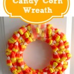 DIY Candy Corn Wreath for Cheap!