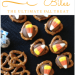 Easy Candy Corn Chocolate Pretzel Bites