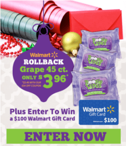 Enter to WIN a $100 Walmart Gift Card!
