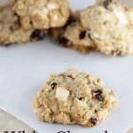 Oatmeal Cranberry White Chocolate Chunk Cookies