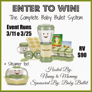 Enter to WIN a Baby Bullet System!!