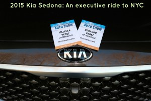 2015 Kia Sedona: An executive ride to NYC