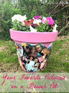 Your Favorite Pictures on a Flower Pot – Craft Idea and DIY