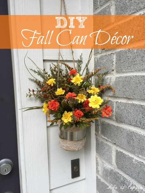 DIY Fall Can Décor