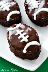 Dr. Pepper Football Brownies