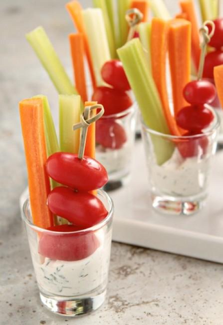 mini veggie dips