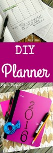 Do It Yourself Yearly Planner – Cheap and Easy!