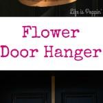 Spring Flower Door Hanger – DIY for Cheap!