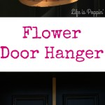 Spring Flower Door Hanger – DIY for Cheap!
