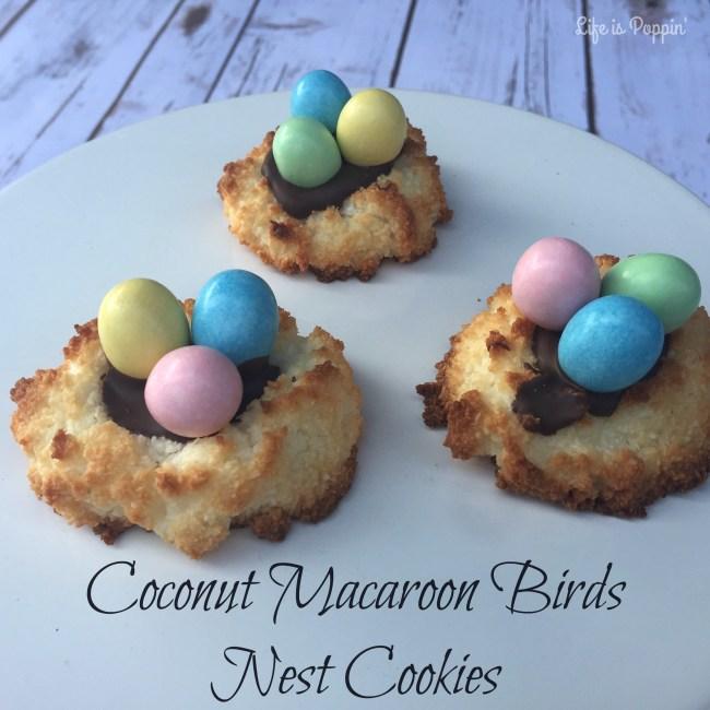 Coconut Macaroon Birds Nest Cookies