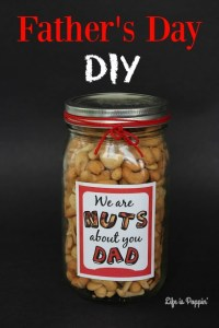 Nuts about Dad craft idea - father's day