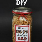 Nuts About Dad DIY Gift Idea + FREE Printable