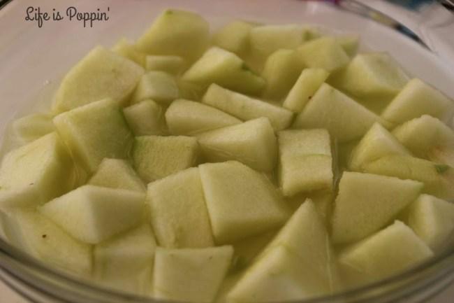 Apples in mixture