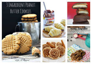 Thirteen Different 3 Ingredient Cookie Recipes