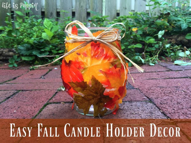 Easy Fall Candle Holder Decor = Final image
