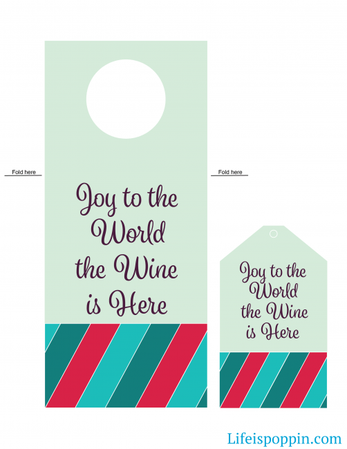 Christmas Wine Tag