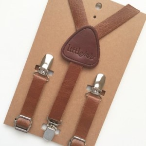 Brown Little Mr. Toddler Suspenders