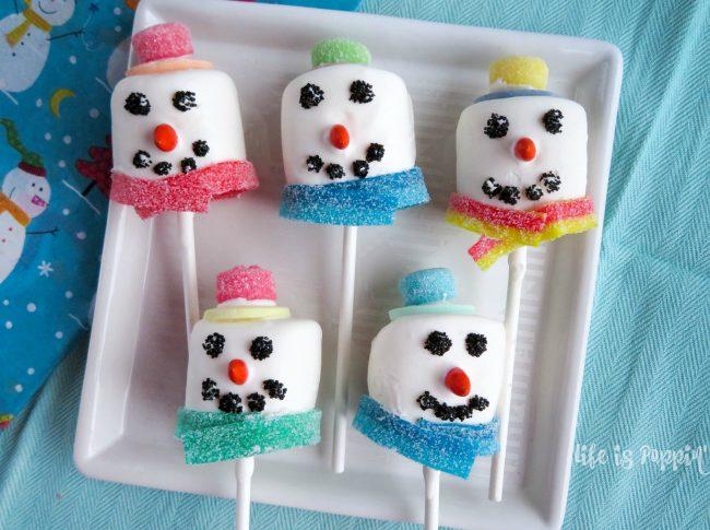cute snowman pops
