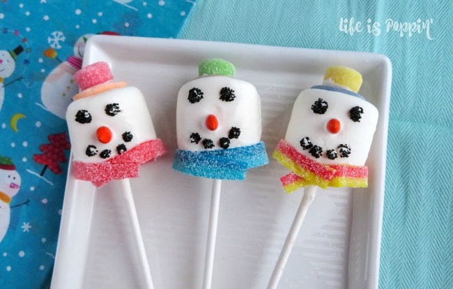 cute snowman pops finished