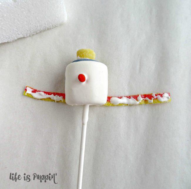 snowman pop scarves
