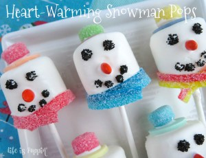 Heart-Warming Snowman Pops