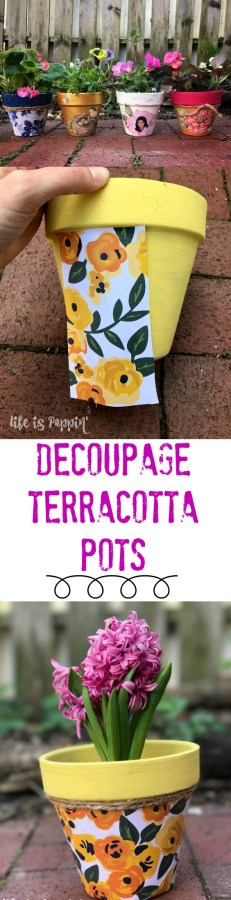 Decoupage Terracotta Pots-Pin