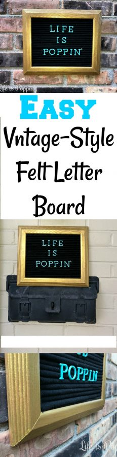 Vntage-Style Felt Letter Board-Pin