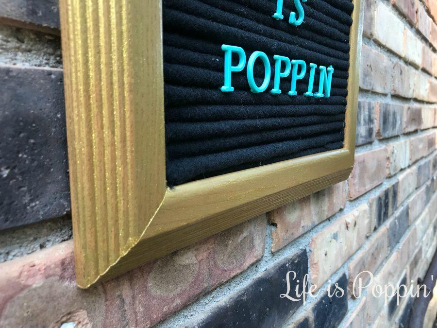 vintage-style felt letter board- easy