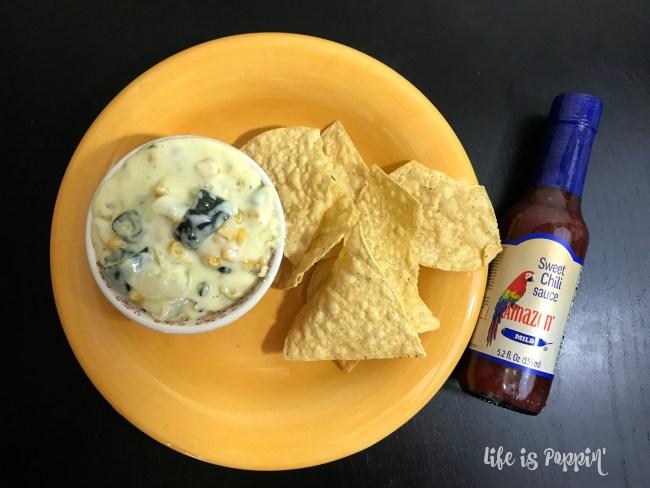 Easy Rajas de Poblano con Crema Dip