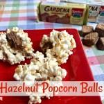 Easy Marshmallow Hazelnut Popcorn Balls