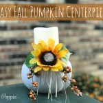 Easy Fall Pumpkin Centerpiece