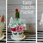 Easy Unicorn Planter DIY