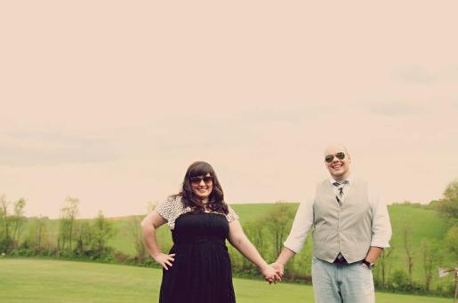 Country Engagement Photo with Sunglasses | Life Is Sweet As A Peach