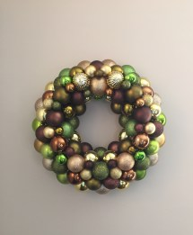 Custom Ornament Wreath for an Etsy customer - Mocha, Olive, Copper, and Gold