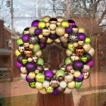 Plum, Copper, Green, and Gold Ornament Wreath | Life Is Sweet As A Peach