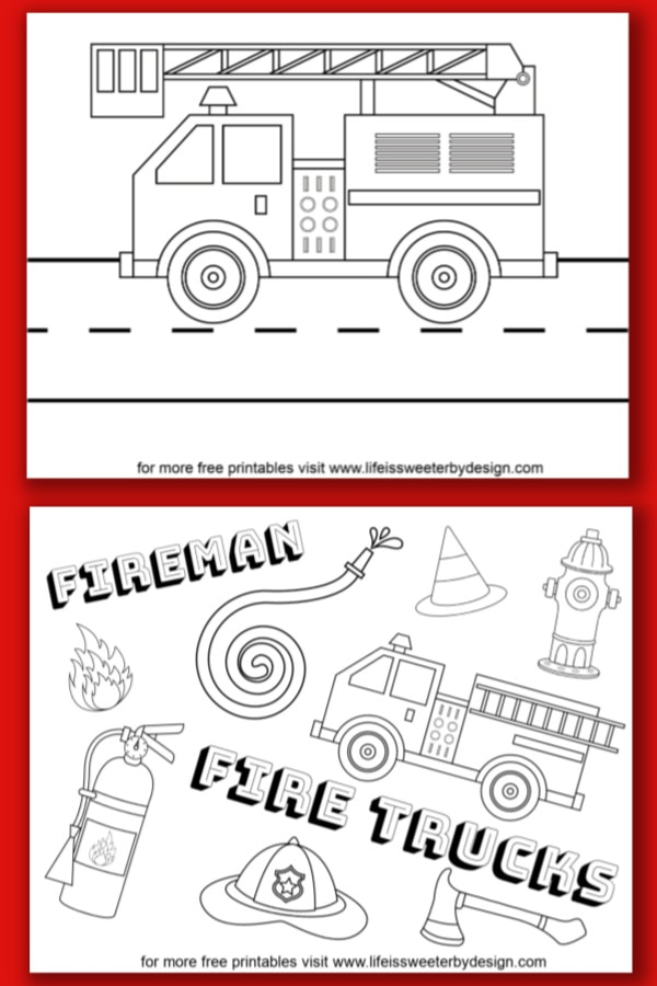 Fire Engine Coloring Pages : engine, coloring, pages, Truck, Coloring, Pages, Sweeter, Design