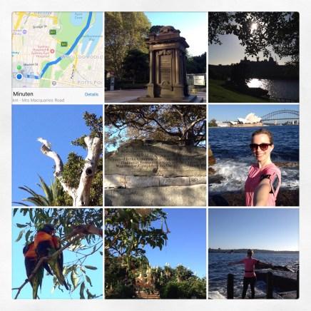 Morning run through Royal Botanical Gardens to Mrs. McQuarie's Chair.