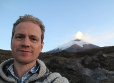 Kjell at the Cotopaxi volcano