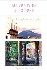 Pinterest pin for Mt Vesuvius and Pompeii