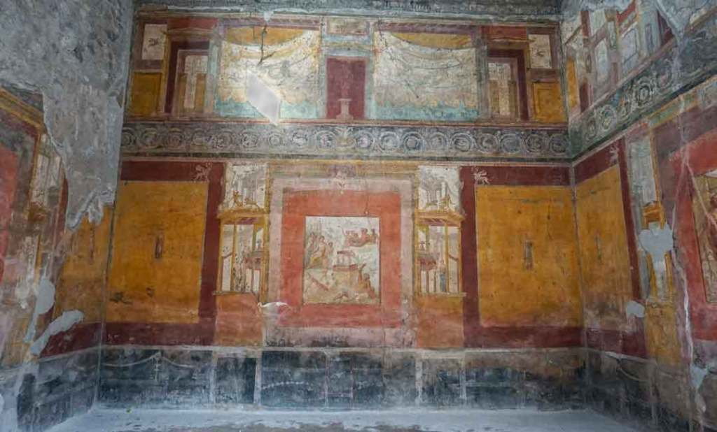 Amazingly colourful indoor frescoes