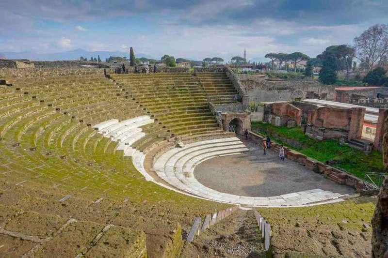The Grand Theatre in the city of Pompeii