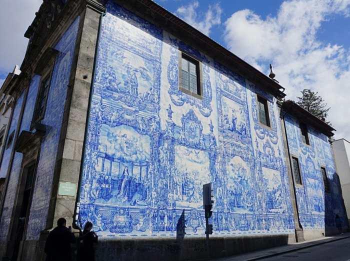blue / white tiled azujelo styled church facades