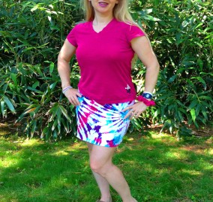 DIY short skirt beachwrap