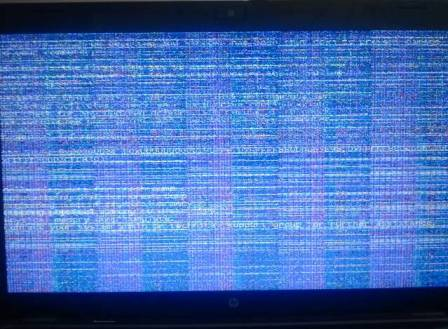 computer screen goes haywire